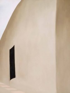 Georgia-O-Keeffe-xx-Patio-with-Black-Door-1955